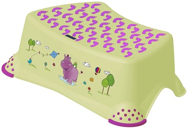 Keeeper Baby Step Stool Hippo Lime