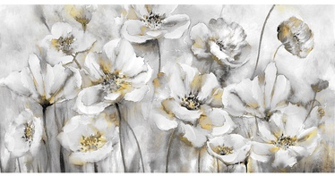 Home4you Oil Painting 50x100cm White Flowers