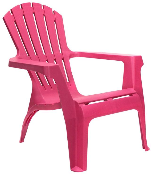Dārza krēsls Home4you Dolomiti, rozā, 75x86x86 cm