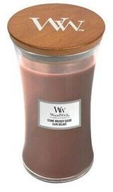 Aromātiskā svece WoodWick Stone Washed Suede Brown, 610 g