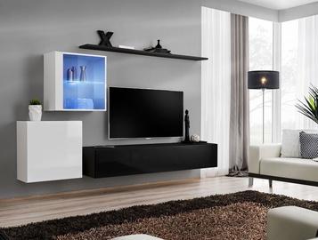 Dzīvojamās istabas mēbeļu komplekts ASM Switch XV White/Black