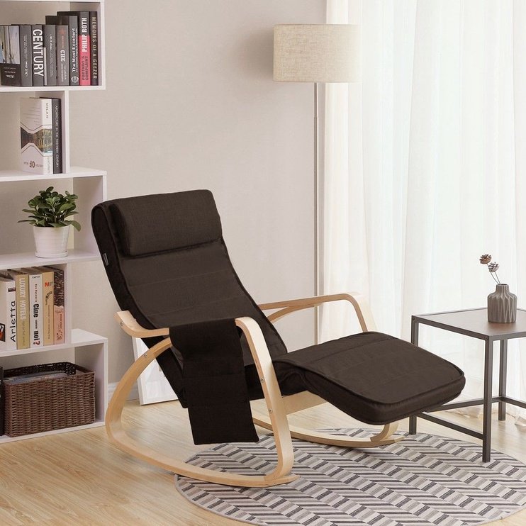 Atzveltnes krēsls Songmics, brūna, 55x80x91 cm