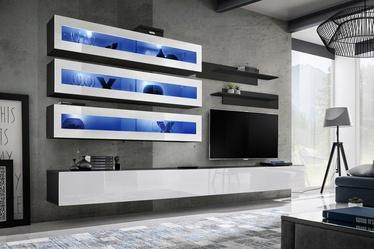 Dzīvojamās istabas mēbeļu komplekts ASM Fly J2 White/Black