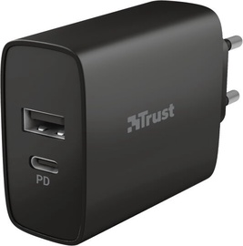 Trust Qmax Ultra-Fast USB-C/USB Wall Charger Black