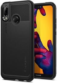 Spigen Marked Armor Back Case For Huawei P20 Lite Black