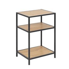 Kafijas galdiņš Home4you Seaford 2 Oak, 420x350x630 mm