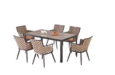 Āra mēbeļu komplekts Masterjero 123+126, brūns, 1-6 sēdvietas