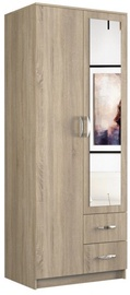 Top E Shop Romana With Mirror 80 Wardrobe Sonoma Oak