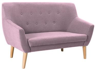 Dīvāns Signal Meble Nordic 2 Cablo 12 Pink, 136 x 75 x 90 cm