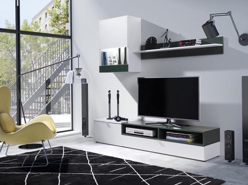 Dzīvojamās istabas mēbeļu komplekts Cama Meble Pat, balta