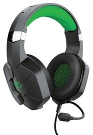 Игровые наушники Trust GXT 323X Carus, черный/зеленый