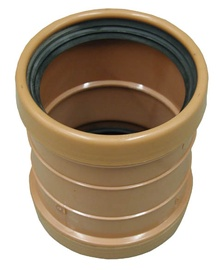 Wavin Double Sewer Socket D160mm Brown