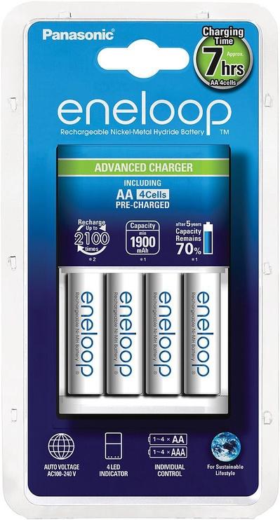 Panasonic Eneloop Charger CC17 White + 4xAA 1900mAh