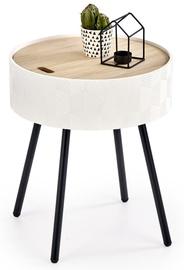 Kafijas galdiņš Halmar Aura White, 380x380x450 mm