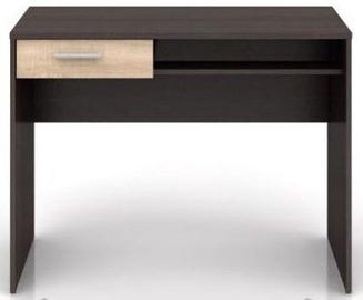 Письменный стол Black Red White Nepo Plus BIU1S, коричневый/дубовый
