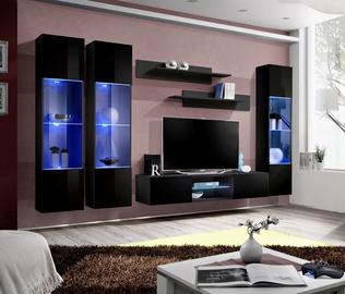 ASM Fly P3 Living Room Wall Unit Set Black