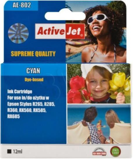 ActiveJet AE-802 Cartridge 13.5ml Cyan