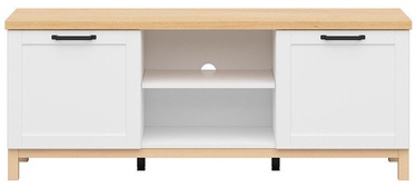 ТВ стол Black Red White Haga, белый/дубовый, 1510x435x600 мм