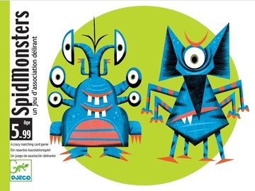 Djeco Stop Games Spidmonsters A Crazy Matching Card Game