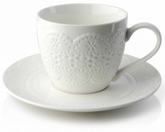 Mondex Lace Cup and Saucer 250ml White