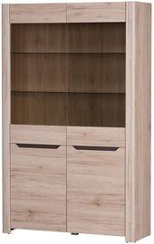 Шкаф-витрина Szynaka Meble Desjo 02 Oak, 118x42x193 см