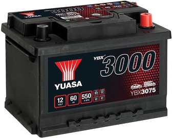 Akumulators Yuasa, 12 V, 60 Ah, 550 A