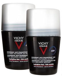 Vīriešu dezodorants Vichy Homme Sensitive Skin 48h Roll-On Deodorant 2x50ml