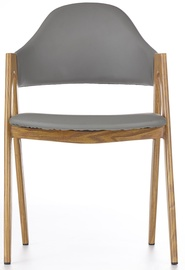 Ēdamistabas krēsls Halmar K-247, pelēka/priežu
