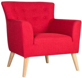Atzveltnes krēsls Home4you Movie Red, 83x76x83 cm