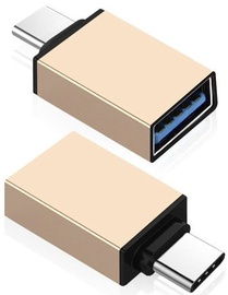 Mocco Type-C To USB3.0 Adapter Gold