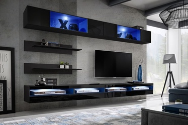 ASM Fly T6 Living Room Wall Unit Set Black