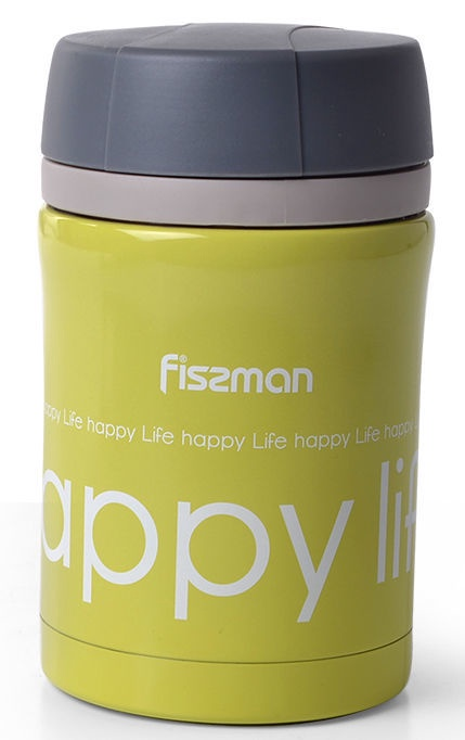 Fissman Vacuum Food Jar 450ml Green