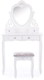 Столик-косметичка Homede Milian White, 80x40x141 см, с зеркалом