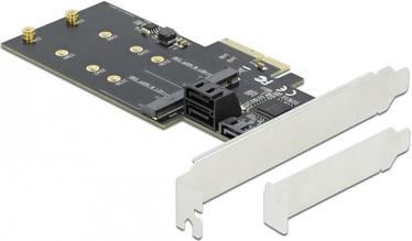 Delock 3xSATA + 2xM.2 PCI Express x4 Card LPF
