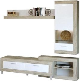 Sekcija Tuckano Ultra Oak/White, 195x52x196 cm