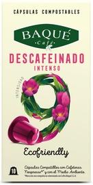 Cafe Baque Decaffeinated Intense Nespreso Compatible Coffee Capsules 10pcs