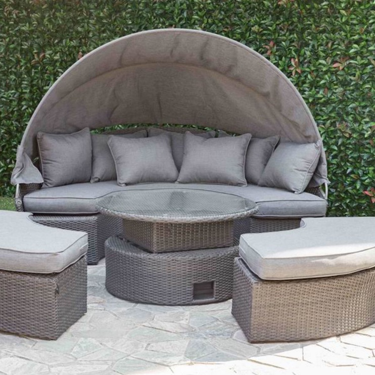 Home4you Clever Garden Furniture Set Grey