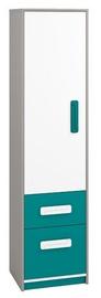 Skapis ML Meble IQ 05 Turquoise, 50x40x199 cm