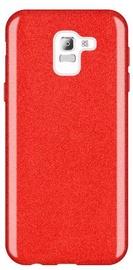 Wozinsky Glitter Shining Back Case For Samsung Galaxy J6 Red