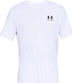Under Armour Mens Sportstyle Left Chest SS Shirt 1326799-100 White XL