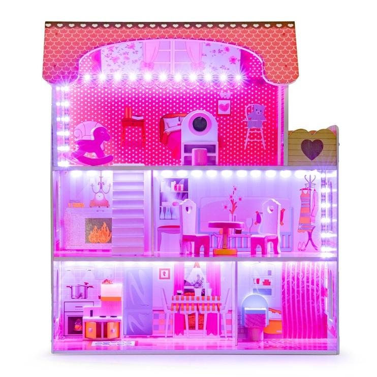 Leļļu māja EcoToys Wooden With LED Lightning