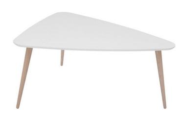 Kafijas galdiņš Black Red White Triango L White, 1100x850x500 mm
