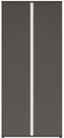 Black Red White Graphic Hallway Wardrobe Wolfram Grey/White