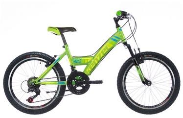 "Velosipēds Kenzel Wind SF300, zaļa, 24"""