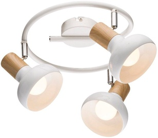 Candellux Puerto 40W E14 Spiral Ceiling Lamp White/Wood