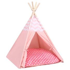 Кровать для животных VLX Vigvam, белый/розовый, 700 мм x 600 мм