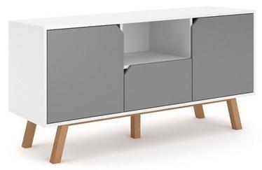 ТВ стол Vivaldi Meble Tokio, белый/серый, 1400x420x700 мм