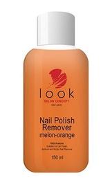Nagu lakas noņemšanas šķidrums Look Nail Polish Remover with Acetone 150ml Melon-Orange