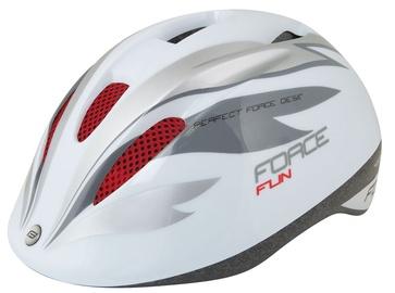 Шлем Force Fun Stripes F9022451, белый/серый, S, 480 - 540 мм