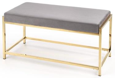 Pufs Halmar Mokka Grey/Gold, 97x44x46 cm